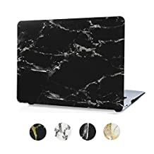 Marble MacBook Air 13 Case with Keyboard Cover Soft Touch Plastic Hard Case for MacBook Air 13 Inch (A1369 / A1466) Coated Hard Shell - Black Marble
