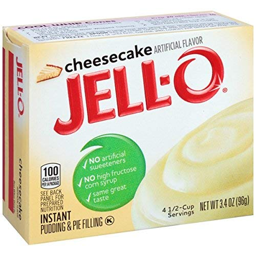 Jell-O Cheesecake Flavored Instant Pudding & Pie Filling, 3.4 oz Boxes (3 Pack)
