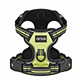 Dog Vest Harness with Leash,Dpower Luxury No Pull Pet Dog Harness 3M Reflective Nylon Lightweight Dog Walking Harness Padded Vest with Breathable Mesh for Outdoor Training Sports Adventure (M, Green)