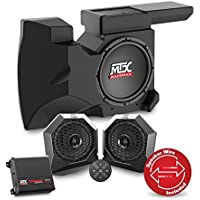 2014 To 2017 Polaris RZR 4 TURBO Bluetooth Enabled Two Speaker, Dual Amplifier, And Single Subwoofer Audio System By MTX Audio RZRBT2