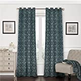 Cheap Eclipse 12427052095SMB Patricia 52-Inch by 95-Inch Blackout Grommet Single Curtain Panel, Storm Blue