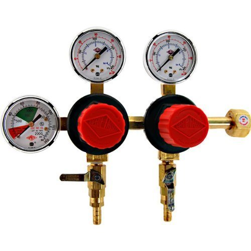 - TapRite Separate Pressure Adjusting 2 Product CO2 Regulator