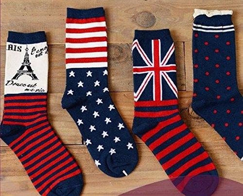 UK England 2018 custom design fashion UK flag socks cotton national flag socks - Shipped from - Uk Custom