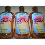 Lot of 3 Bath & Body Works Signature Collection White Mango Chill Shea Enriched Shower Gel 10 Oz Each