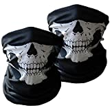 Seamless Skull Motorcycle Face Masks Passion Skull Mask & for Out Riding & Motorcycle & Skeleton Mask for Halloween(2 Pack)