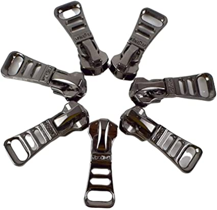 5 Pcs 5# Zipper Sliders Metal Pulls Head Clothing Bag Sewing Tailor Repair Kits