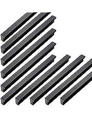 Qrity 20 stuks moderne aluminiumlegering kast deurgreep meubels lade trekken knoppen gat midden 192 mm