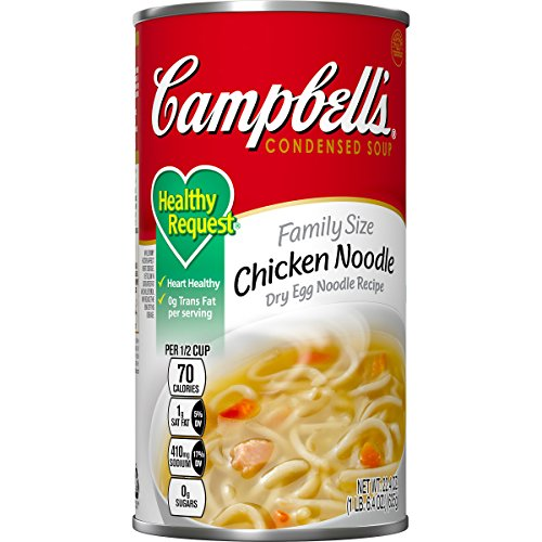 Campbell's Healthy Request Condensed Soup, Chicken Noodle, Family Size, 22.4 ()
