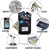 RFID Blocking Passport Holder Travel Neck Pouch