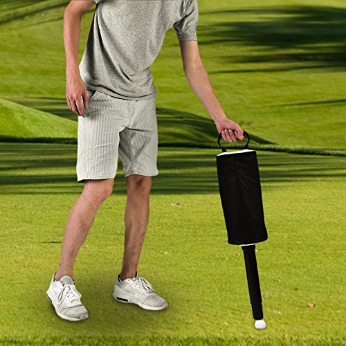 Vbestlife Golf Ball Pick Up Bag,Portable Golf Ball Picker Pick-Ups Retrievers Grabber Pocket Storage Bag Scooping Device