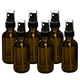 6, Reehut 15ml (0.5oz) Empty Glass Spray Bottles with Black Fine...