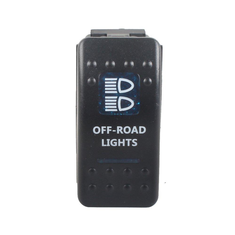Etopars  Car Auto 12V 20A 24V 10A Blue LED Light Lamp Momentary ...
