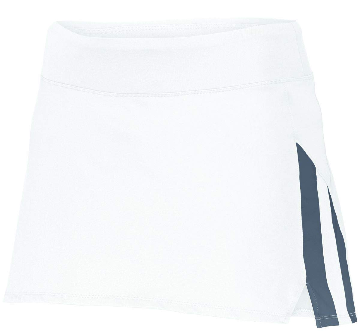 Augusta Sportswear Girls Full Force Skort L White/Graphite by Augusta Sportswear