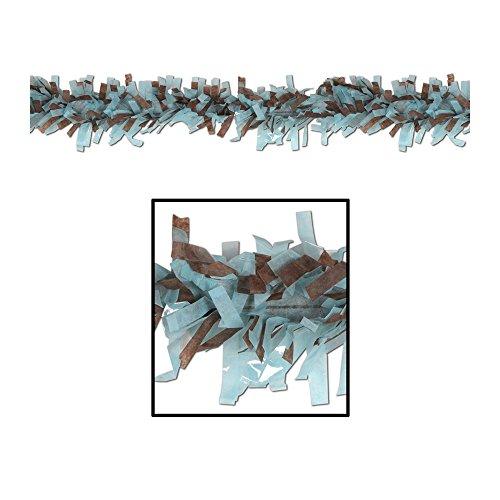 Beistle Home Party Decoration Tissue Festooning Lt Blue & Brown- Pack Of 24 (Tissue Art Festooning)
