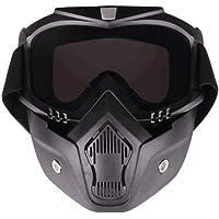SEALEN Máscara de Gafas de Motocicleta, Antivaho Desmontable