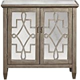Pulaski DS-P017067 Mirrored Door Accent Chest with Metallic Finish, Silver
