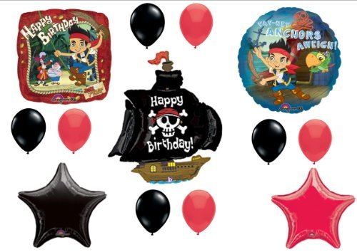 (Jake & The Neverland Pirates Birthday Party Balloons Decorations Supplies)