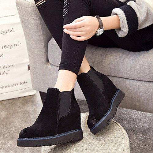 Los Zapatos de Pareja Planas Todo Coinciden con Los Zapatos Deportivos de Encaje de Perlas , negro , EUR37