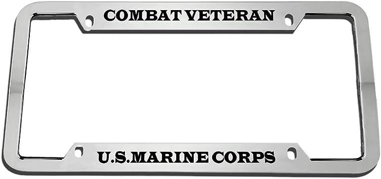 U.S MARINES MARINE METAL MILITARY License Plate Frame Tag Holder