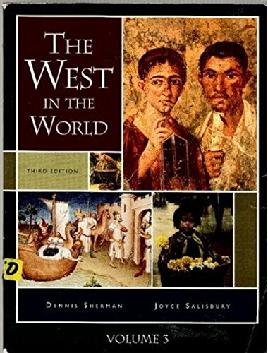 The West in the World, Volume 3, Third Edition