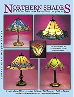 Amazon making stained glass lamps 0011557036138 michael northern shades 25 full size patterns for stained glass lampshades aloadofball Images
