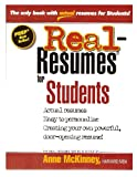 Real-Resumes for Students, Anne McKinney, 1475093977