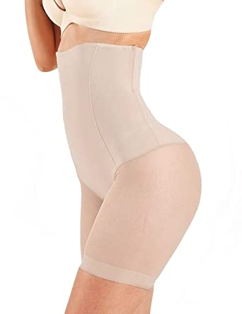 f4c1ce8fec Image Unavailable. Image not available for. Color  MUKATU Seamless Ultra  Thin High Waist Tummy Control Panties Thigh Slimmer Shapewear Slimming  Panty Women