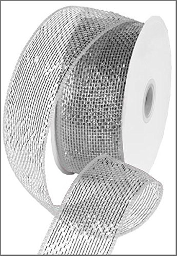 Metallic Wired Ribbon (Metallic Poly Deco Mesh Ribbon (2.5