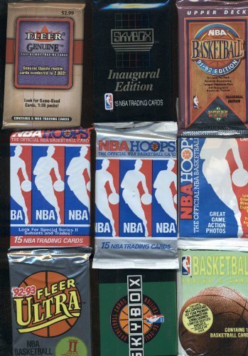 100 Vintage NBA Basketball Cards in Old Sealed Wax Packs - Perfect for New Collectors Includes Players Such as Michael Jordan, Charles Barkley , Magic Johnson and Larry Bird ! (Michael Cards Basketball Jordan)