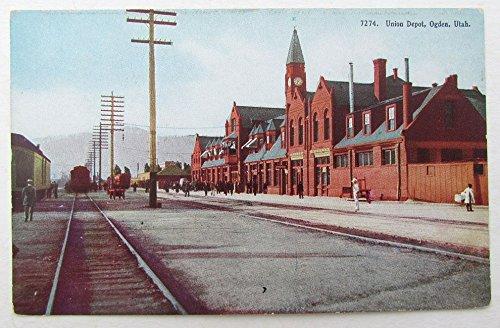 VINTAGE POSTCARD UNION DEPOT OGDEN UTAH railroad railway station ()
