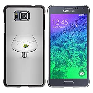 Cubierta protectora del caso de Shell Plástico || Samsung GALAXY ALPHA G850 || Pet Idea Light Bulb Grey Deep @XPTECH