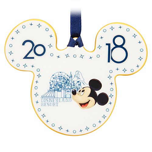 Disney Disneyland Mickey Mouse Icon 2018 Ceramic Disc Christmas Ornament (Christmas Park Disneyland)