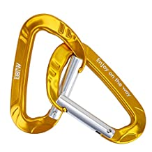 """EOTW Locking Carabiner Clip,D-ring Keychain keyrings Carabiners Clip Hook Snap High Strength for Home RV Outdoor Hammock Camping Hiking Traveling Fishing Backpack Gym Screwgate 1.8"""" x 3.1"""""""
