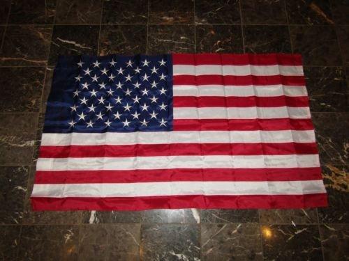 Moon 3x5 Embroidered Sewn USA American 50 Star 300D Nylon Fl