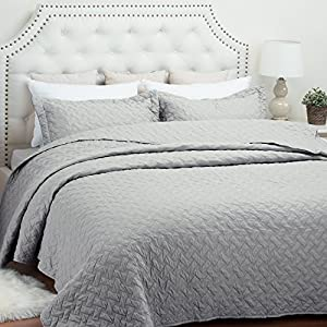 Quilt Set Solid Grey King(106