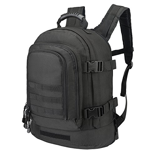 e Backpack With Waist Strap 39 - 64 L Large 3 Day Military Tactical Rucksack for Outdoors Hiking GYM Camping Trekking Bug Out Durable Comfortable and Lightweight Molle Assault Bag ()