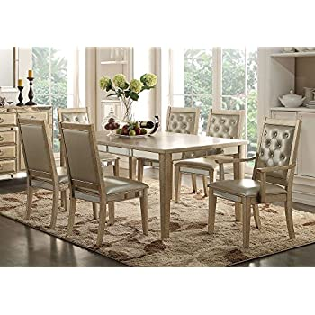 Amazon.com - 1PerfectChoice Voeville 9 pcs Formal Dining Set Table ...