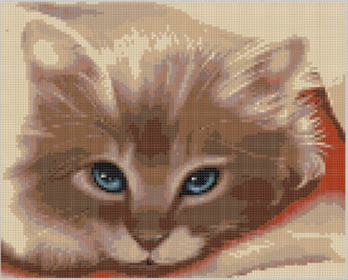 Cat Face Cross Stitch Pattern