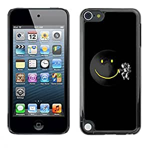 PC/Aluminum Funda Carcasa protectora para Apple iPod Touch 5 Planet Smiley / JUSTGO PHONE PROTECTOR
