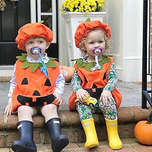Amosfun Halloween Costume de citrouille pour enfants Costume de b/éb/é manteau chapeau chaussettes Tenues 80 cm