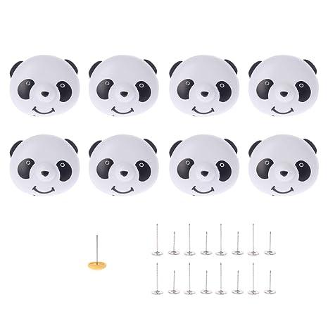 WINJEE, 8X Panda Quilt Cover Cripper Ropa de Cama Edredón Funda nórdica Clips Clips Pinza