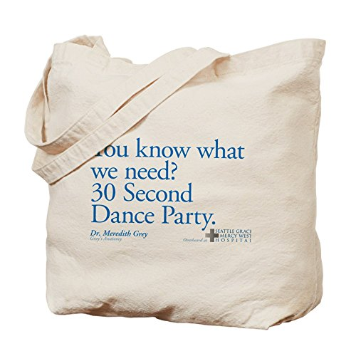CafePress 30 Second Dance Party Quote Tote Bag - Standard Multi-color by CafePress
