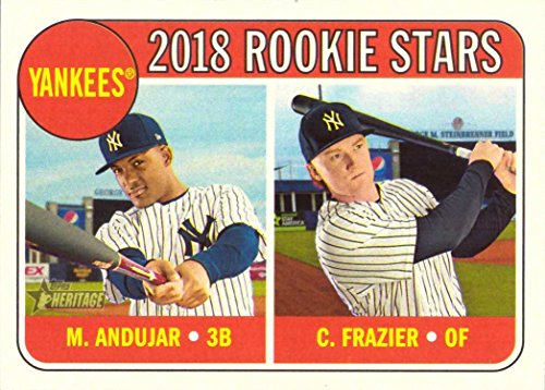 (2018 Topps Heritage Baseball #114 Miguel Andujar/Clint Frazier Rookie Card)