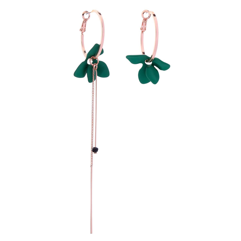 Miss Kiss Acrylic Leaf Earrings Statement Dangle Drop Hoop Earrings Fashion Gift