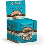 Munk Pack - Coconut White Chip Macadamia - Protein Cookie - 6 Pack - 18g Protein, Vegan, Gluten-Free, Soft Baked - 2.96oz