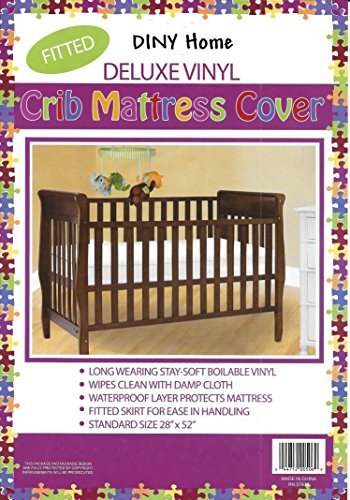- Deluxe Vinyl Fitted Crib Mattress Cover 28