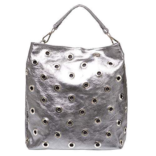 Shoulder Marlafiji Bag Pearl Metallic Grey qqrwtzx7WB