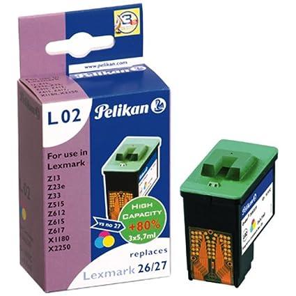 Pelikan 346339 - Cartucho de tinta Lexmark Z13, 23, 25, 33, 35 ...