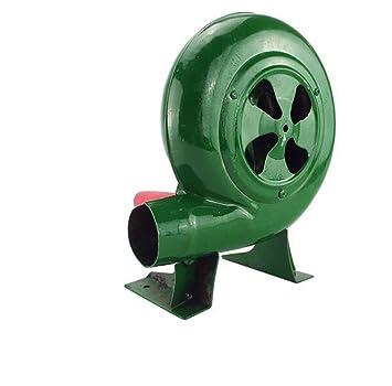 Ventilador para Barbacoa Parte Superior Manual Forja Soplador Manivela Fan Parrilla Encendedores De Barbacoa Encendedor De Carbón Fan-Verde,150W: Amazon.es: ...