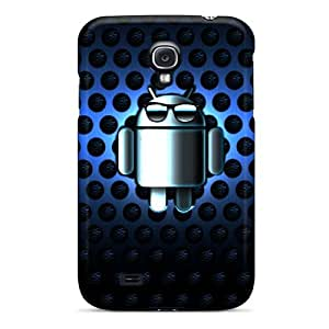 Premium Blue Droid Case For Galaxy S4- Eco-friendly Packaging